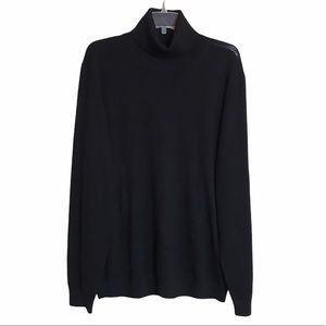 FRANK AND OAK Merino Wool Black Turtleneck Sz XL